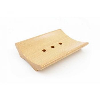 Wooden Curved Rectangle Soap Dish