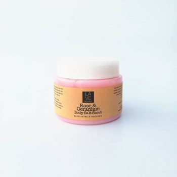 Rose & Geranium Body Salt Scrub